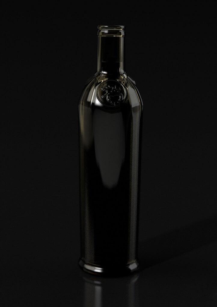 Flasche Visualisierung Rendering Realistisch