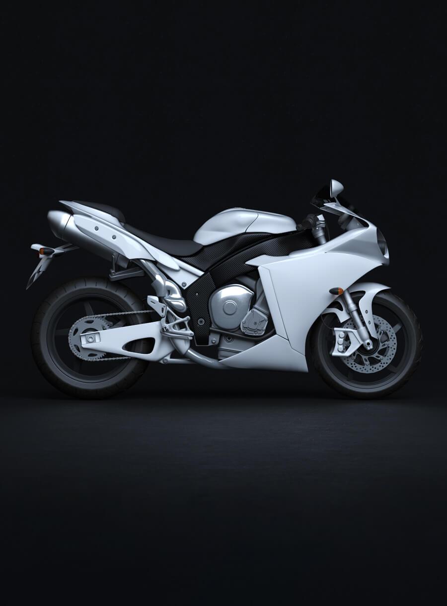 Avl Motorrad Visualisierung Rendering Cgi