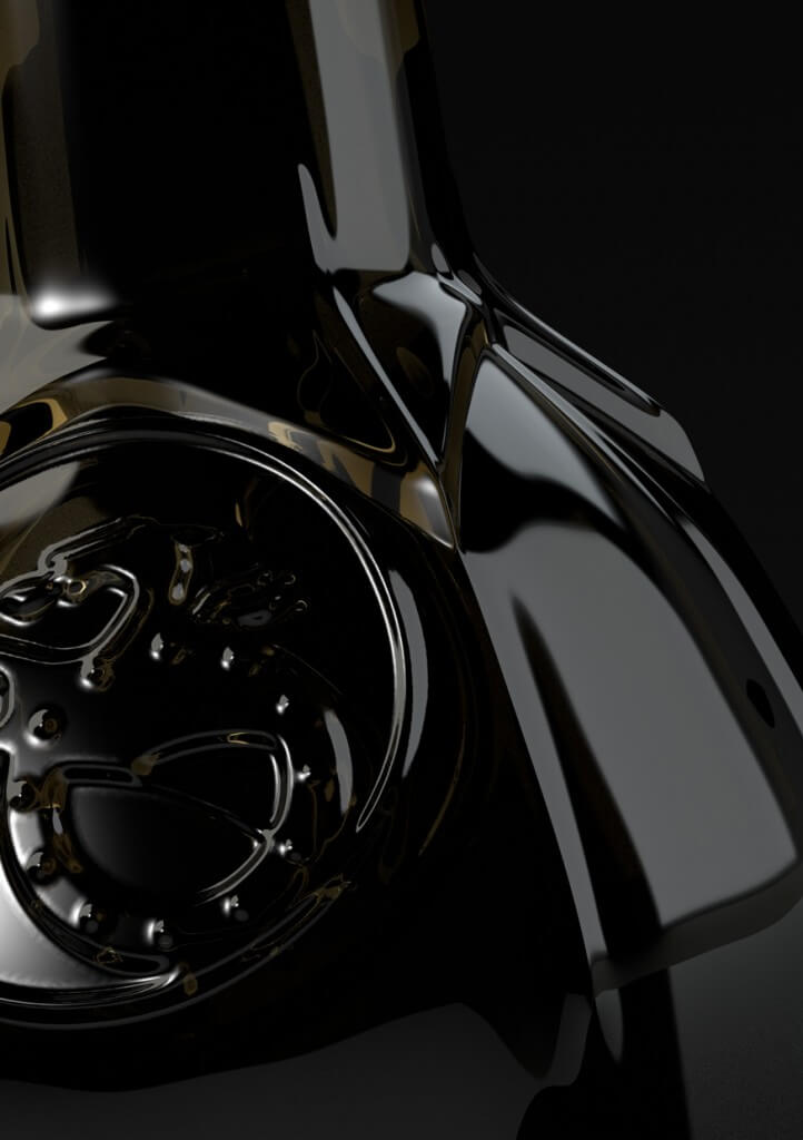 Flasche Dunkel Visualisierung Realistisch Rendering